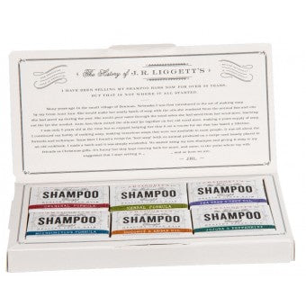 J.R Liggetts Shampoo Selection Box containing 6 different varieties of shampoo