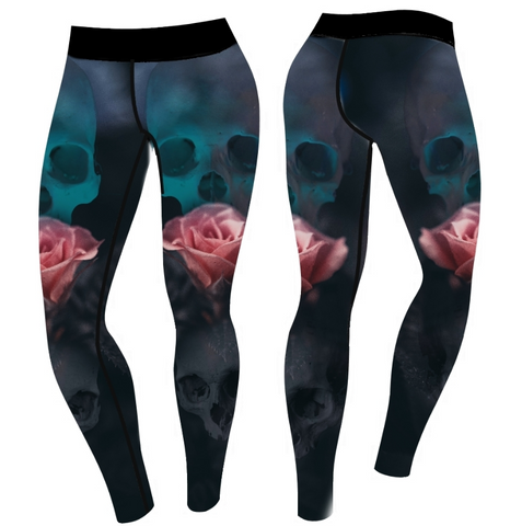SkullRose Leggings