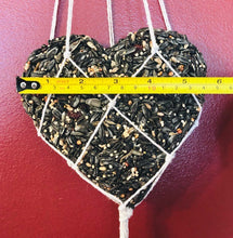 Load image into Gallery viewer, Hand-knotted, Net Birdfeeder with Wood Beads