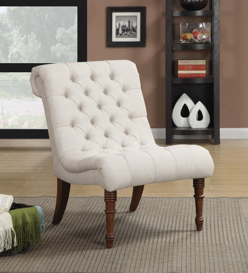 Traditional Oatmeal Slipper Chair image