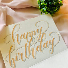 Load image into Gallery viewer, Happy Birthday Card with Brush Calligraphy