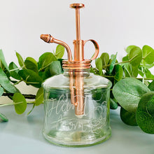 Load image into Gallery viewer, Hand Engraved Rose Gold Glass Plant Mister