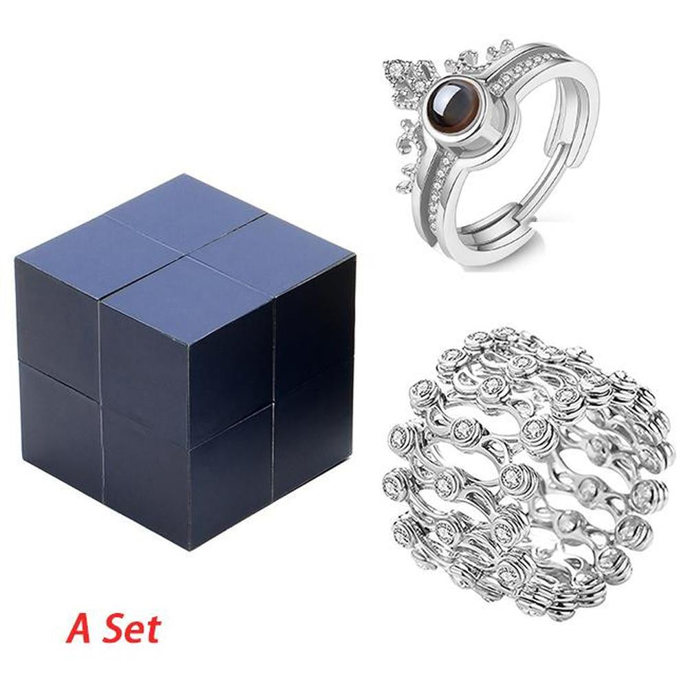 Magic Puzzle BOX Creative Ring and Bracelet