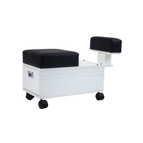 pedicure cart with footrest