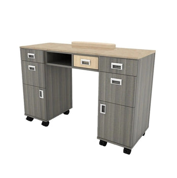Alera Manicure Nail Table with Granite Top