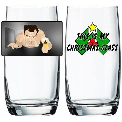 "Die Hard "" This is My Christmas Glass"" Nordic Cooler"