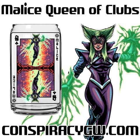 Malice Queen of Clubs - X-Men Card Series Glass