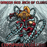 Omega Red Jack of Clubs - X-Men Card Series Glass - PreOrder