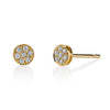Pave Rose Cut Stud Earrings