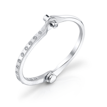 Pave White Diamond Handcuff