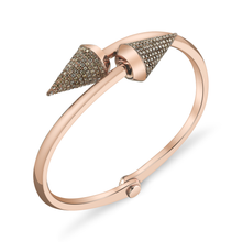 Brown Diamond Large Spike Handcuff
