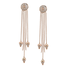 Brown Diamond Spike Dangle Earrings