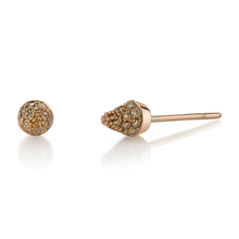 Small Pave Brown Diamond Studs