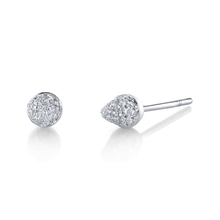 Small Pave Spike Studs