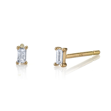 Single Baguette Stud Earrings