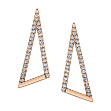 "Pave Diamond ""V"" Ear Climbers"