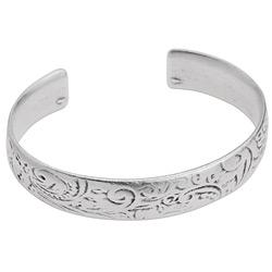 Bracelet with floral pattern - 66.4 x 12.3mm
