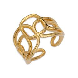 Ring wireframe with mixed shapes 17mm 21 x 21mm