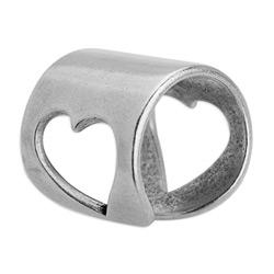 Ring with stencilhearts 17mm 21 x 21mm