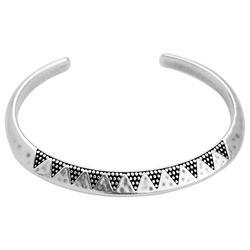 Bracelet organic triangles with dots - 66.3 x 7.2mm