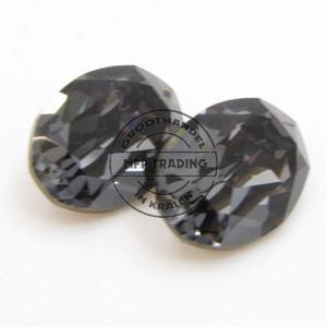 Swarovski 4120 Fancy 14x10mm Crystal Silver Night