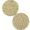 DQ Leren Cabochon 7mm Dusty Sand