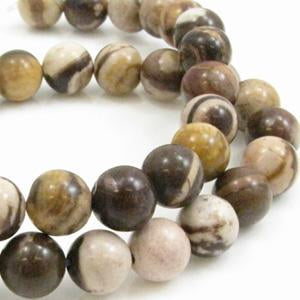 Brown Zebra Jasper 4mm Rond