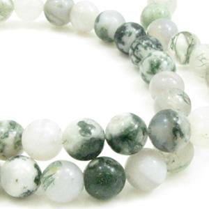 Tree Agate 8mm Rond