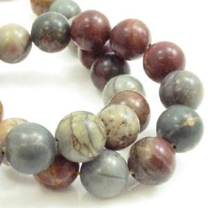 Multi Colour Picasso Jasper 8mm Rond