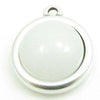 Cabochon White Agate 12mm