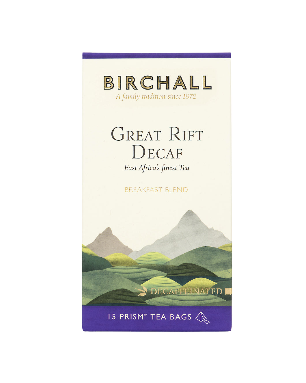 Great Rift Decaf 15 Plant Based Prism Tea Bags