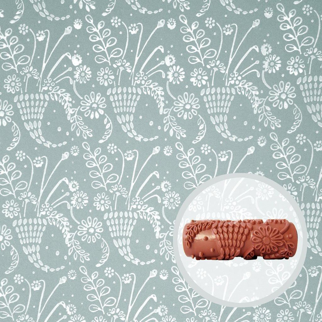 Wild Posy Patterned Paint Roller – Painttern