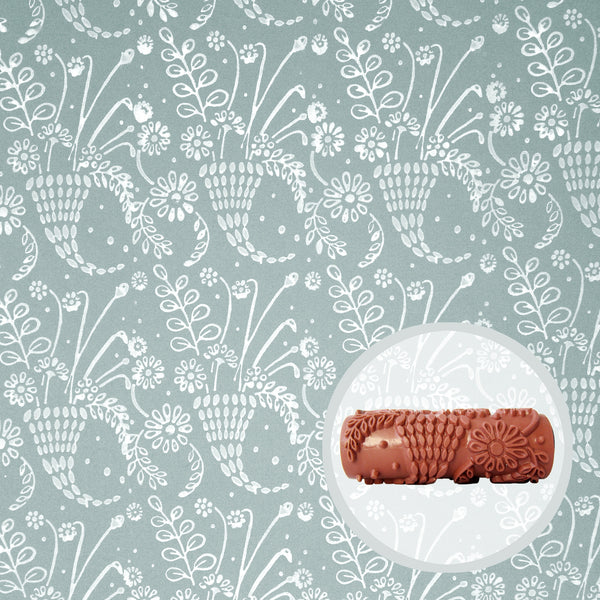 Wild Posy Patterned Paint Roller