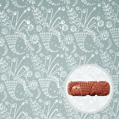 Wild Posy Patterned Paint Roller - Front