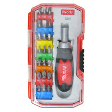 Load image into Gallery viewer, 22 PC RATCHETING SCREWDRIVER SET