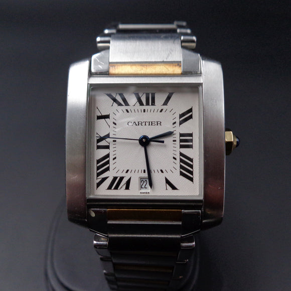 Cartier Tank Francaise automatic - Ref 2302 in SS and 18K yellow gold – FULL SET
