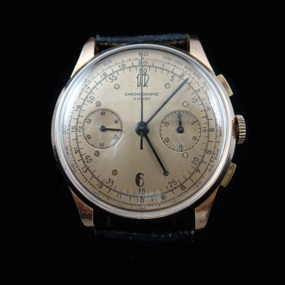 Chronographe Suisse in 18K rose gold with Landeron 248