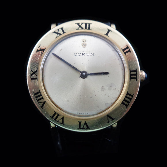 Corum 57104 – Romulus bezel in 18K yellow gold from the 1980's