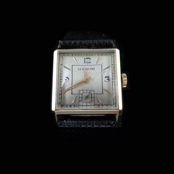 LeCoultre square in 14K solid yellow gold with movement 9 RO