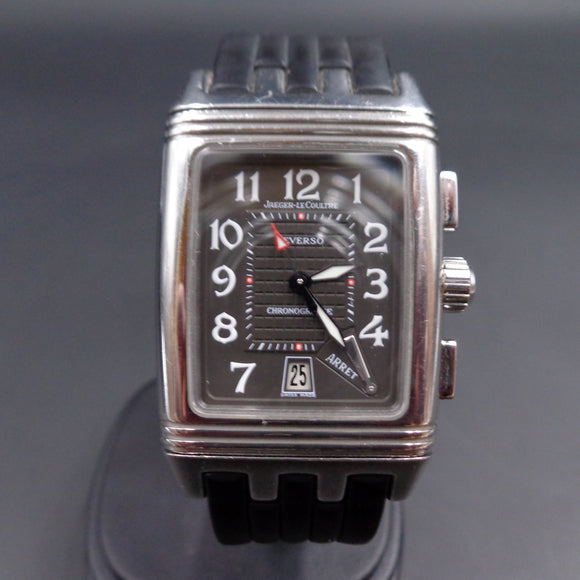 Jaeger Lecoultre Reverso Gran Sport Duoface Retrograde Chronograph ref 295.8.59 in stainless steel