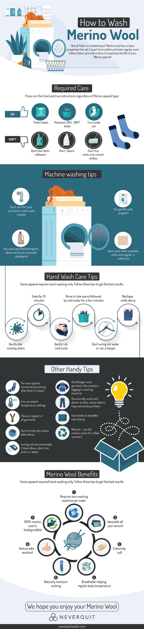 How to Wash Merino Wool Products Infographics – NEVERQUIT Socks