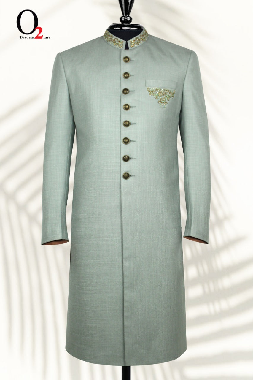 ZARDOSI SHERWANI IN TIFFANY