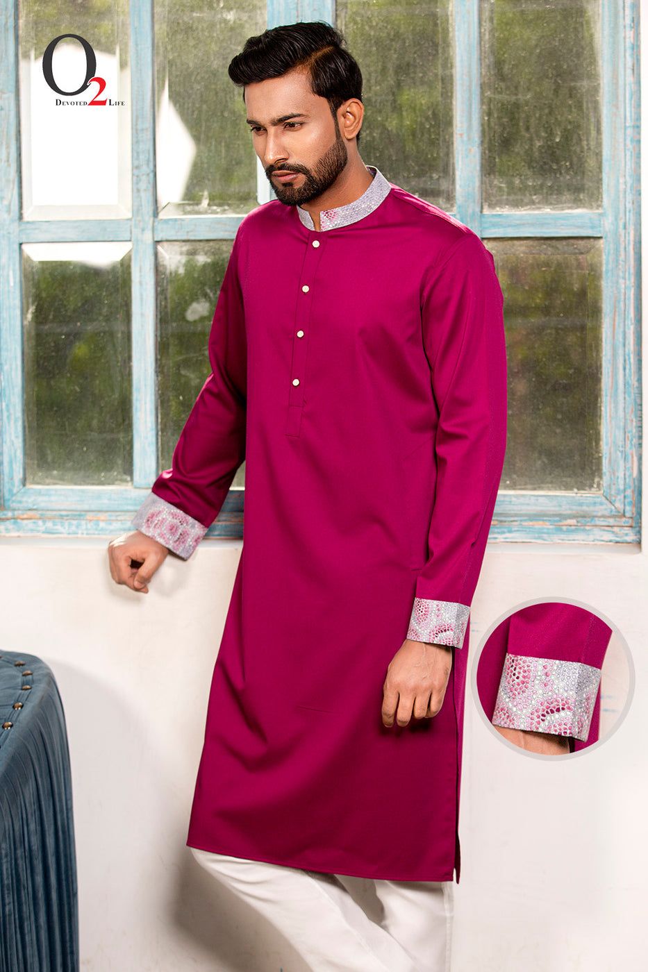 Deep Purple Regular Fit Panjabi