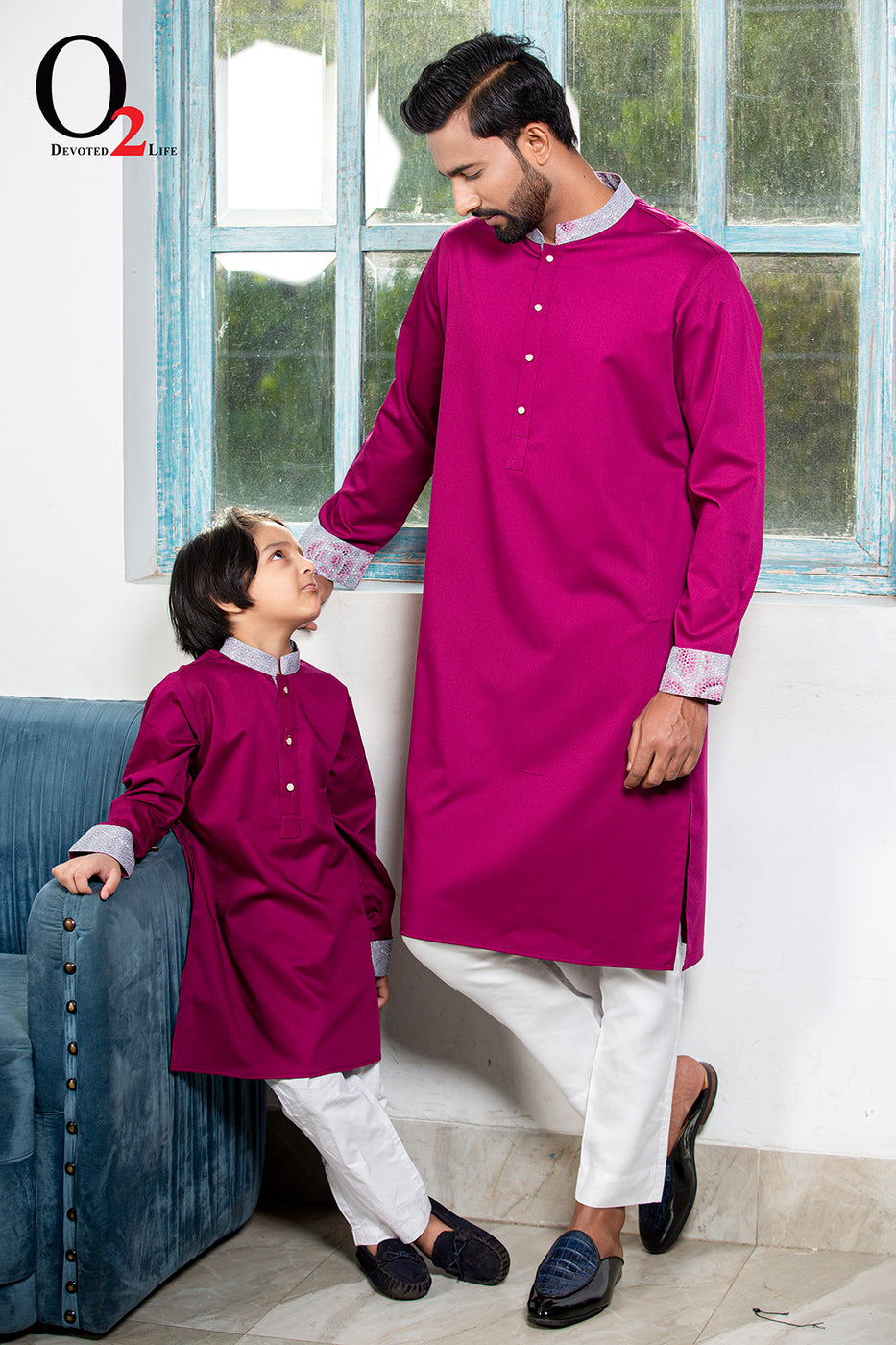 Deep Purple Kid's Panjabi