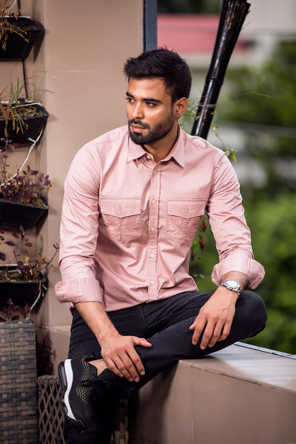 Winter shirts for men casual Cream