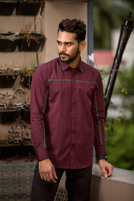 Winter shirts for men casual Meroon