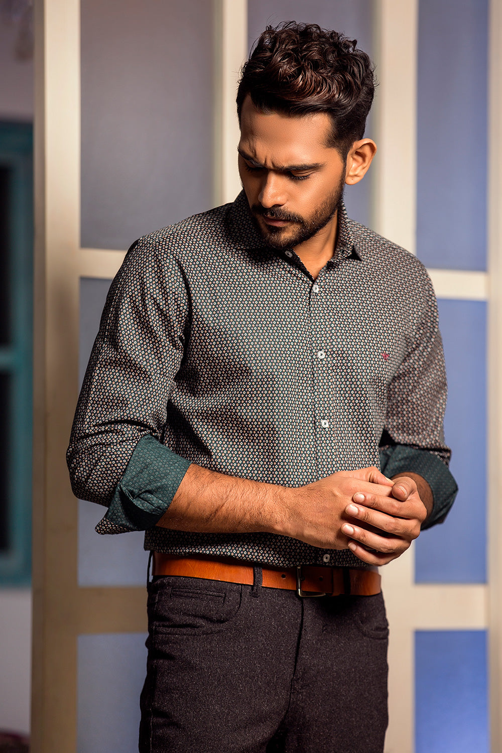 Winter shirts for men casual Olive