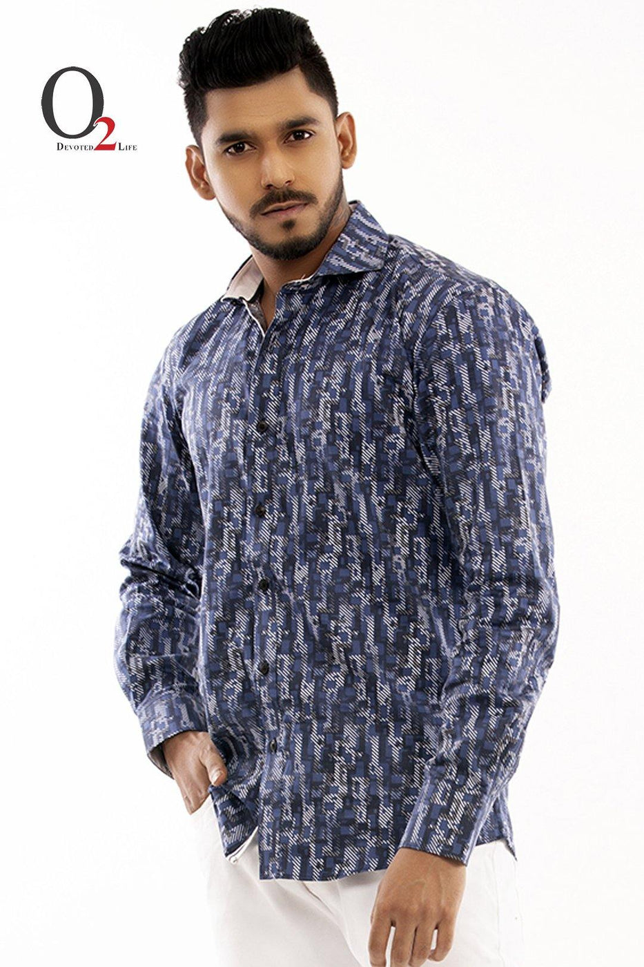 Abstract Casual Full Sleeve Shirt
