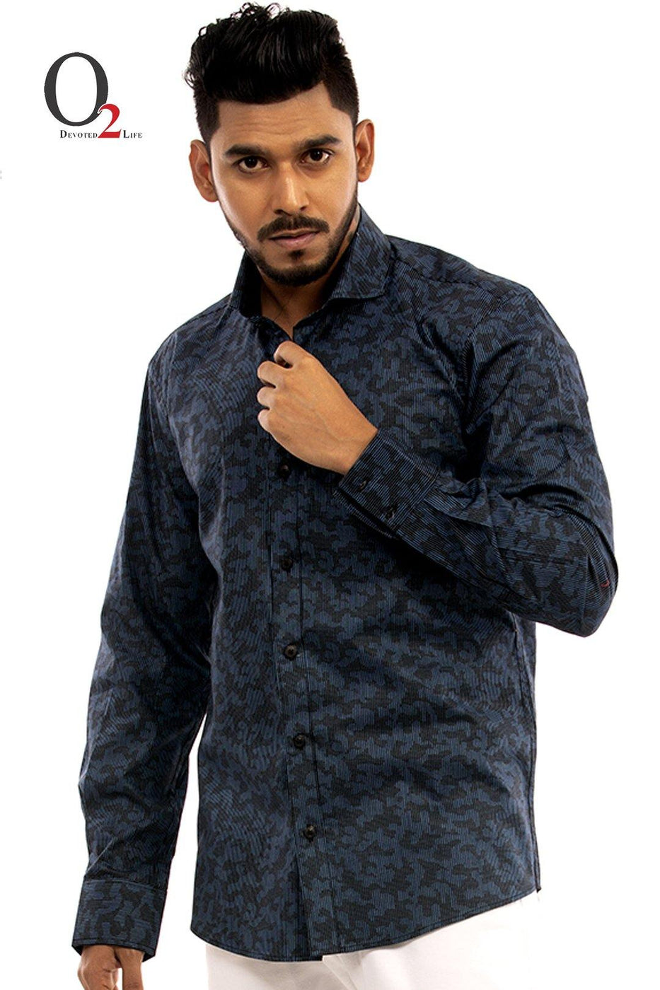 Black Ash Stripe Full Sleeve Shirt