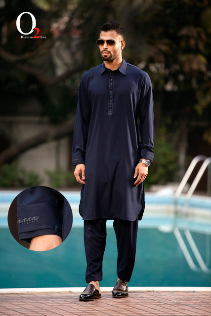 Navy Blue AN Kabli Set